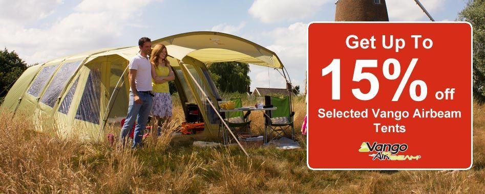 15% Off Vango Airbeam Models like Lumen, Evoque and Spectrum