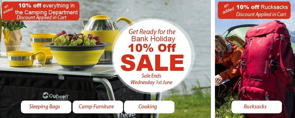 Added 10% off all camping products