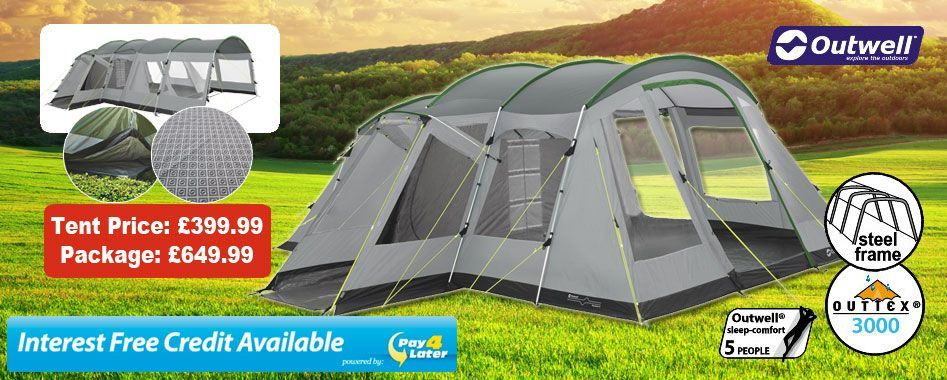 £649.99 for deal with tent, carpet, footprint and extension