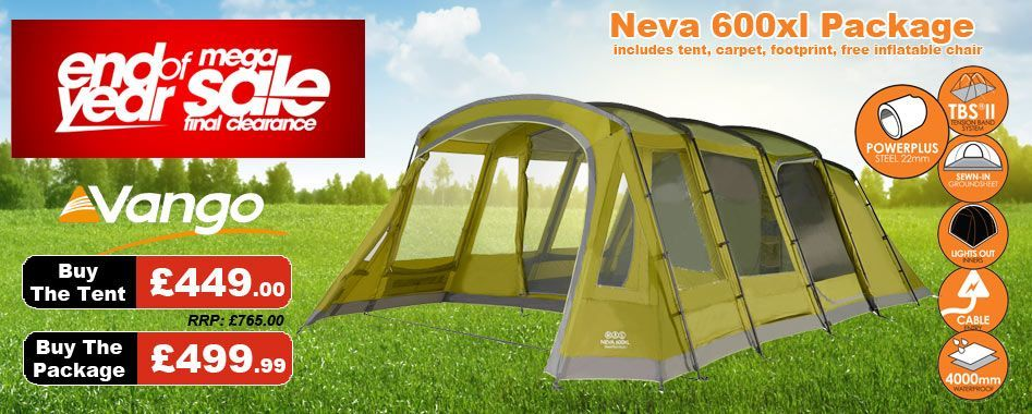 Includes Tent, Carpet, Footprint
