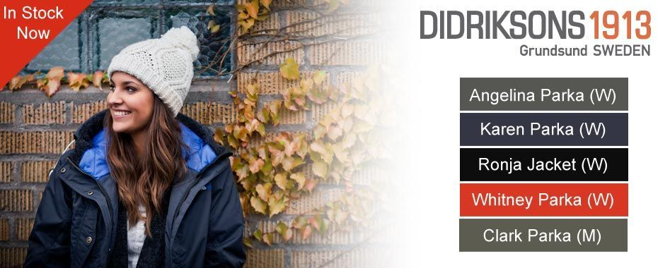 Didriksons Clothing Now in stock