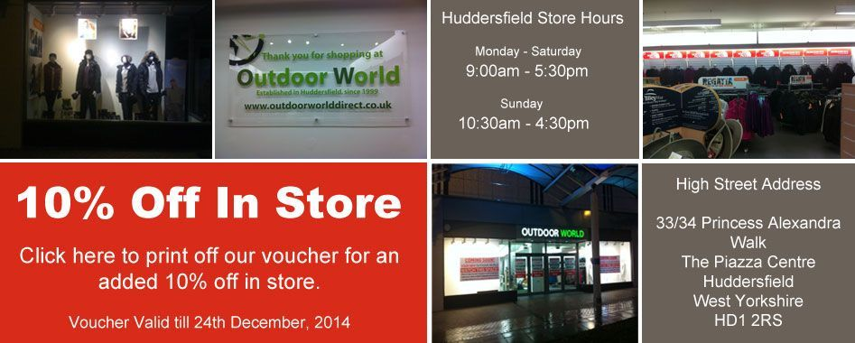 10% OFF in store with this voucher
