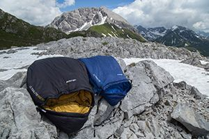 A range of Vango and Outwell sleeping bags