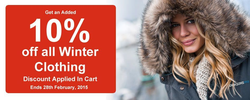 10% off all winter clothing