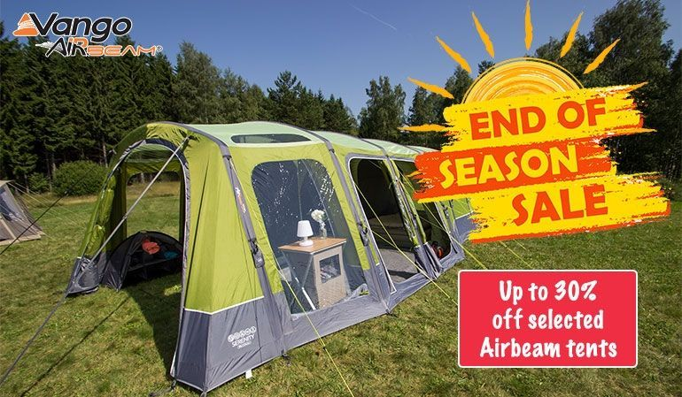 30% off Vango Airbeam - selected tents