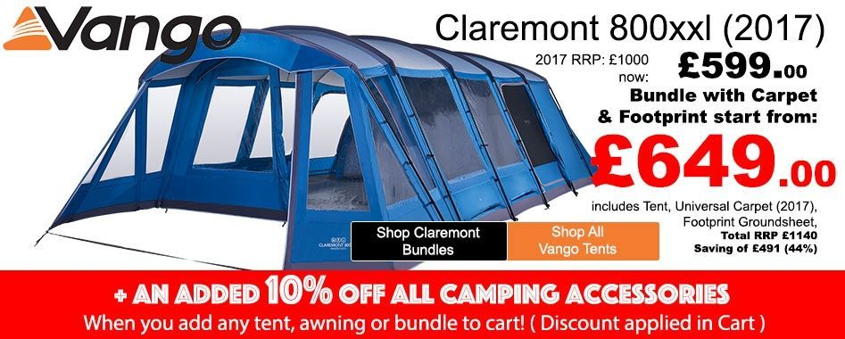 Spacious family tent bundles available