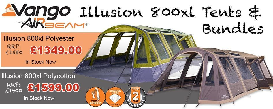 Includes both the polyester tent and the brand new cotton version