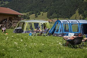 A selection of Airbeam Tents