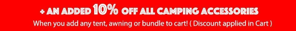 10% off all camping accessories