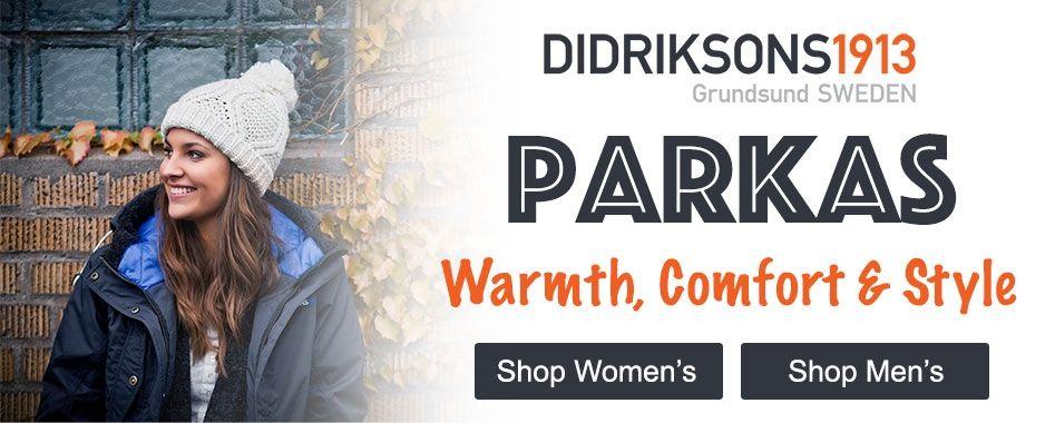 Men's and Women's winter wear parkas
