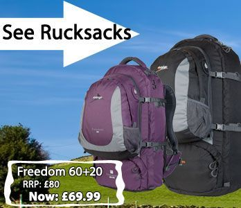 A wide range of Vango and Outwell rucksacks.