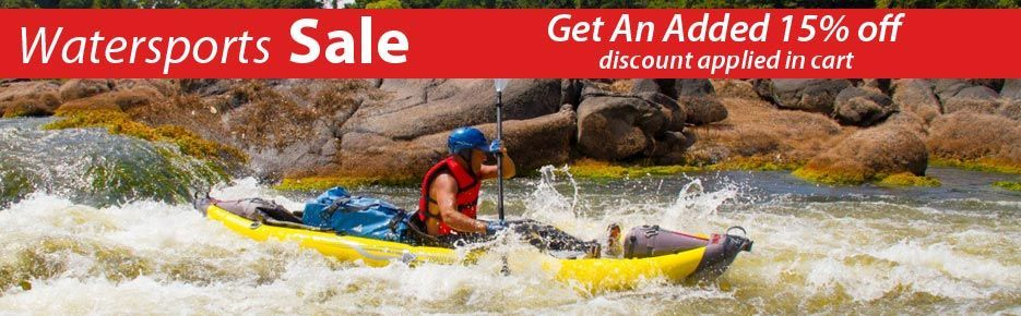 Get an added 15% off all watersport products